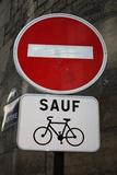 Paris France Sauf Biking Plastic Sign Plastic Sign