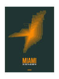 Miami Radiant Map 4 Print by  NaxArt