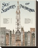 Skyscrapers of Philadelphia, c. 1898 Stretched Canvas Print