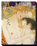 Gustav Klimt - Mother and Child (detail from The Three Ages of Woman), c. 1905 - Şasili Gerilmiş Tuvale Reprodüksiyon