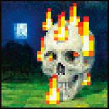 Minecraft - Burning Skull Stampa