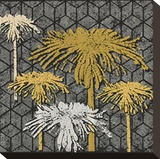 Dandelion on Tumbling Blocks (Yellow) Stretched Canvas Print by Susan Clickner