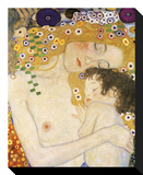 Mother and Child (detail from The Three Ages of Woman), c. 1905 Stretched Canvas Print by Gustav Klimt