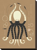 Dancing Octopus Stretched Canvas Print by Tracy Walker