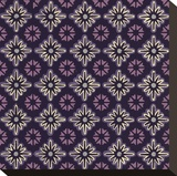 Moroccan Twelve Point Star (Purple) Stretched Canvas Print by Susan Clickner