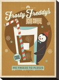 Frosty Freddy Stretched Canvas Print by  Anderson Design Group