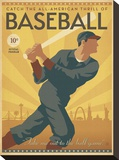 Baseball Stretched Canvas Print by  Anderson Design Group