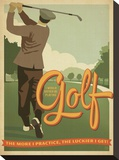 Golf Lucky Stretched Canvas Print by  Anderson Design Group