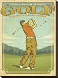 Golf-Bad Day Impressão em tela esticada por  Anderson Design Group