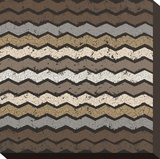 Zig Zag Zen (Neutrals) Stretched Canvas Print by Susan Clickner