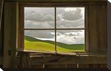 Palouse Barn Stretched Canvas Print by David Winston