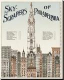 Skyscrapers of Philadelphia, c. 1898 Leinwand