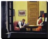Room in New York, 1932 Reproduction sur toile tendue par Edward Hopper