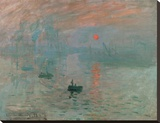 Impression, Sunrise Stretched Canvas Print by Claude Monet