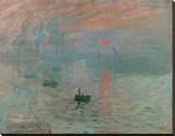 Impression, Sonnenaufgang (grün) Leinwand von Claude Monet