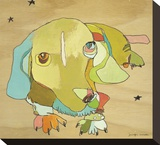 Cooper Dog Stretched Canvas Print by Jennifer Mercede