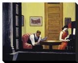 Room in New York, 1932 Reproduction transférée sur toile par Edward Hopper