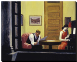 Room in New York, 1932 Stretched Canvas Print by Edward Hopper