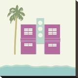South Beach - Pink Reproduction transférée sur toile par Carly Lawrence