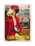 THAT HAMILTON WOMAN, Vivien Leigh on Italian poster art, 1941. Art
