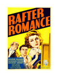 RAFTER ROMANCE, from left: George Sidney, Norman Foster, Ginger Rogers on midget window card, 1933. Poster