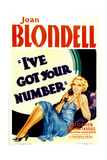 I'VE GOT YOUR NUMBER, Joan Blondell, 1934. Prints