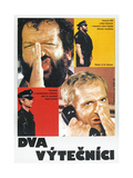 CRIME BUSTERS, (aka DVA VYTECNICI), Polish poster, from top: Bud Spencer, Terence Hill, 1977 Posters
