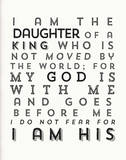 I Am His Serigrafie von Kyle & Courtney Harmon