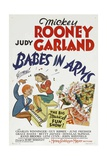 BABES IN ARMS, from left: Mickey Rooney, Judy Garland, 1939 Prints