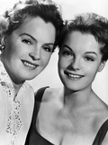 Romy Schneider (right) with mother, Magda Schneider ca. late 1950s Poster