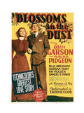 BLOSSOMS IN THE DUST, from left: Greer Garson, Walter Pidgeon on midget window card, 1941. Posters