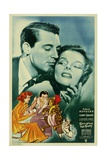 BRINGING UP BABY, top from left: Cary Grant, Katharine Hepburn, 1938 Posters