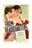 FROM HEADQUARTERS, from left: George Brent, Margaret Lindsay on midget window card, 1933. Art