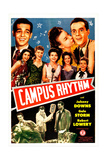 CAMPUS RHYTHM, US poster, top from left: Robert Lowery, Gale Storm, Johnny Downs, 1943 Posters