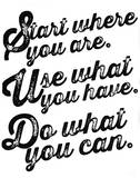 Start Where You Are Sérigraphie par Kyle & Courtney Harmon
