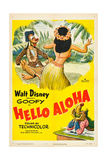 HELLO ALOHA, top and bottom: Goofy on poster art, 1952. Posters