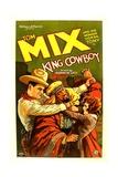 KING COWBOY, left: Tom Mix, right: Sally Blane, 1928. Posters
