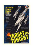 TARGET FOR TONIGHT, window card, 1941 Print