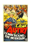 COMIN' ROUND THE MOUNTAIN, from left: Gene Autry, Smiley Burnette, 1936 Art
