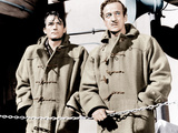 THE GUNS OF NAVARONE, from left: Gregory Peck, David Niven, 1961 Photo
