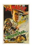 THE OREGON TRAIL, (poster art), John Wayne, 1936 Art