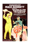 BUNGALOW TROUBLES, from left, Louise Fazenda, Billy Bevan, 1920 Print