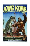 KING KONG ESCAPES, (aka EL REGRESO DE KING-KONG), Argentinan poster, King Kong (right), 1967 Kunstdrucke