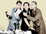 HIS GIRL FRIDAY, from left: Cary Grant, Rosalind Russell, Ralph Bellamy, 1940 Photo