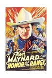 HONOR OF THE RANGE, Ken Maynard, Cecilia Parker, 1934 Prints
