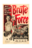 BRUTE FORCE, Burt Lancaster, Yvonne De Carlo, 1947. Giclee-tryk i høj kvalitet