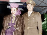 THIRTY SECONDS OVER TOKYO, from left: Jane Wyman attends movie premiere with husband Ronald Reagan Print