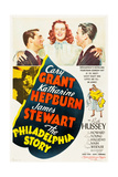 THE PHILADELPHIA STORY, Cary Grant, Katharine Hepburn, James Stewart, 1940. Affiches