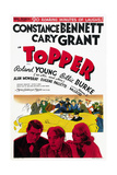 TOPPER, bottom from left: Cary Grant, Roland Young, Constance Bennett, 1937. Posters