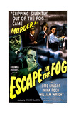 ESCAPE IN THE FOG, US poster, from left: Nina Foch, Konstantin Shayne,  1945 Prints